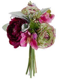 "9"" Ranunculus Mixed Bouquet  Purple Lilac (pack of 6)"