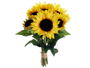 "16"" Sunflower Bouquet x6  Yellow (pack of 6)"