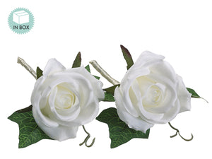 "5"" Rose Boutonniere (2 ea/box)  Cream (pack of 24)"
