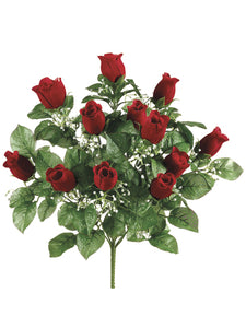 "20"" Rose Bud Bush x12  Red (pack of 12)"