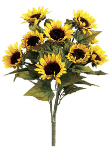 "20"" Sunflower Bush x9  Yellow (pack of 12)"