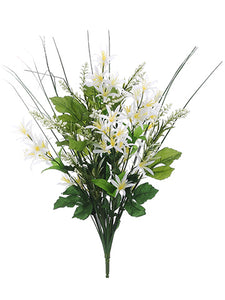 "21.25"" Wild Lily/Astilbe Mixed Bush x10 Cream White (pack of 12)"