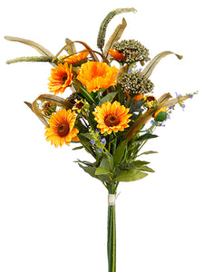 "31"" Sunflower/Poppy/Yarrow Bouquet Yellow Green (pack of 6)"
