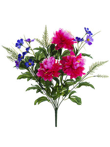 "22"" Peony/Daisy Bush x9  Beauty Purple (pack of 12)"
