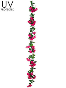 6' UV Protected Bougainvillea Garland Boysenberry (pack of 6)