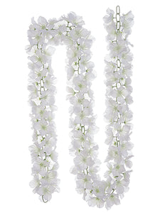 6' Hydrangea Chain Garland  White (pack of 6)