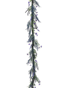 6' Lavender/Fern Garland  Lavender Purple (pack of 6)