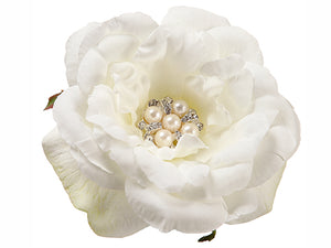 "4.3"" Pearl Rose Napkin Ring  White (pack of 24)"