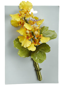 "5"" Oncidium Orchid Corsage on Card Yellow (pack of 4)"