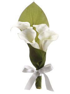 "10"" Calla Lily Flower Girl Cone Cream (pack of 12)"