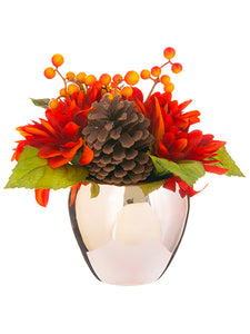 "10"" Dahlia in Ceramic Vase  Brick (pack of 4)"