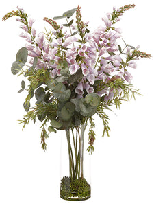 "38"" Foxglove/Eucalyptus in Glass Vase Lavender Green (pack of 1)"
