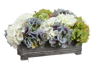 "8.5"" Hydrangea Centerpiece in Pot Green Delphinium (pack of 4)"