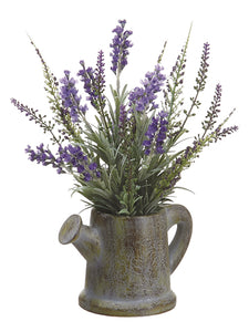 "11"" Lavender in Paper Mache Pitcher Purple Lavender (pack of 6)"