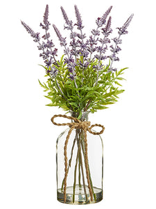 "17"" Lavender in Glass Vase  Lavender (pack of 1)"