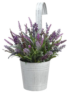"12.5"" Hanging Lavender in Tin Pot Purple Lavender (pack of 6)"