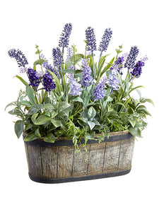 "14"" Lavender/Eucalyptus Arrangement in Mgo Pot Two Tone Lavender (pack of 4)"