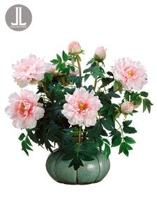 "26"" Peony in Ceramic Pot  Pink White (pack of 1)"