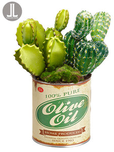 "11"" Cactus in Can  Green (pack of 6)"