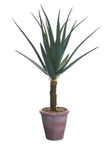 "36"" Agave Plant in Paper Mache Pot Green (pack of 1)"