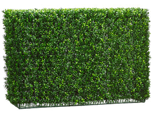 "24""Hx12""Wx37.5""L Boxwood Hedge Two Tone Green (pack of 1)"