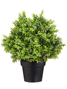 "18"" Tea Leaf Ball Topiary in Pot Green (pack of 4)"