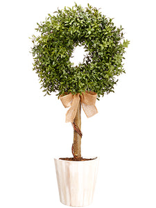 "30"" Boxwood Wall Topiary in Pot Green (pack of 2)"