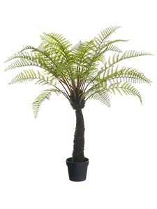 "48"" Forest Fern Plant in Plastic Pot Green (pack of 1)"