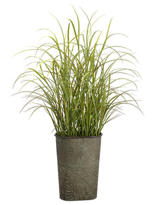 "58"" Grass in Tin Pot  Green (pack of 1)"