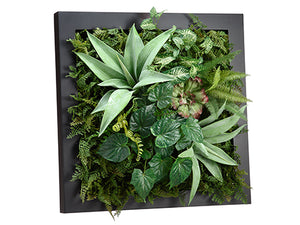 "24""Wx24""L Agave/Fern/Succulent Wall Deco Green (pack of 1)"