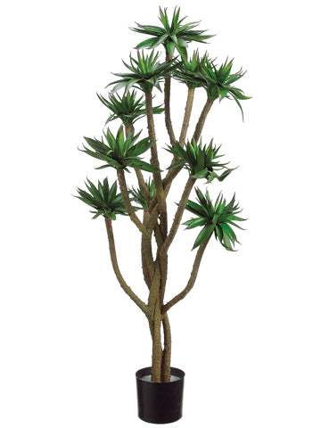 4' Agave Twist Tree x10 w/380 Leaves in Pot Green (pack of 2)