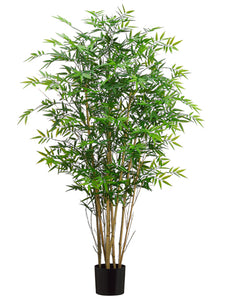 5' Bamboo Tree w/418 Leaves in Pot Green (pack of 2)