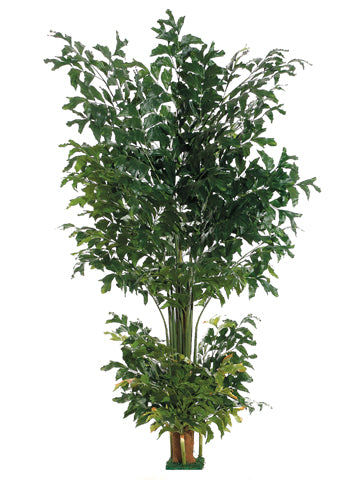 8' Fishtail Palm Tree with 1002 Leaves & Square Base Green (pack of 2)