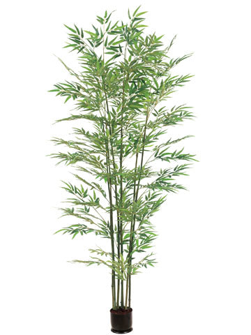 6' Bamboo Tree x7 With 1680 Leaves in Pot  (pack of 1)