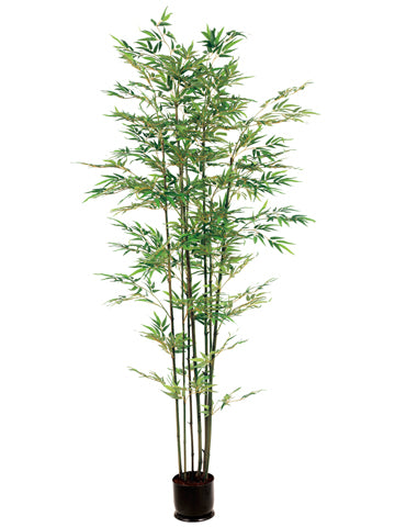 7' Bamboo Tree x7 With 1980 Leaves in Pot  (pack of 1)