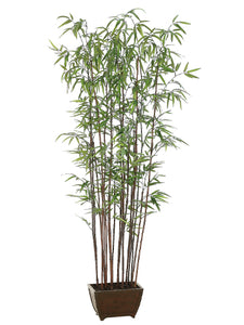 "72"" Bamboo Wall Tree x19 With 1276 Leaves in Wood Container Green (pack of 1)"