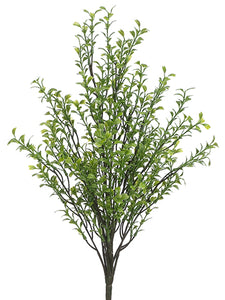 "19"" Plastic Boxwood Bush x13  Green (pack of 12)"