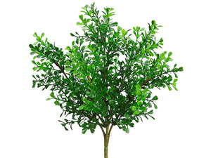 "12"" Plastic Boxwood Bush  Green (pack of 24)"