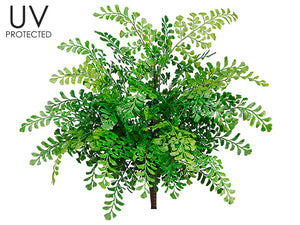"19"" UV Protected Maidenhair Fern Bush Green (pack of 12)"