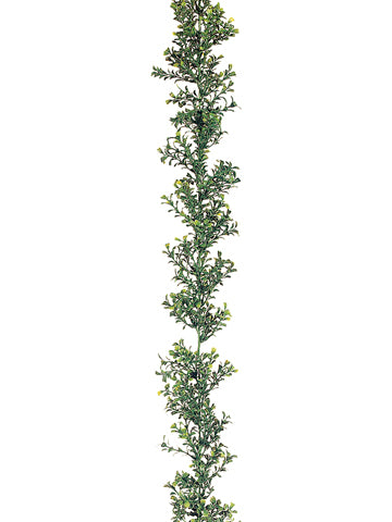 6' Plastic Boxwood Garland x300 Two Tone Green (pack of 12)