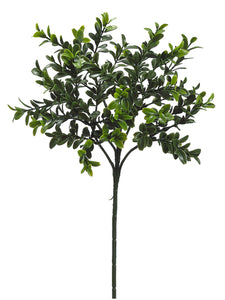 "18.5"" Boxwood Spray with 36 Cluster Leaves Green (pack of 24)"