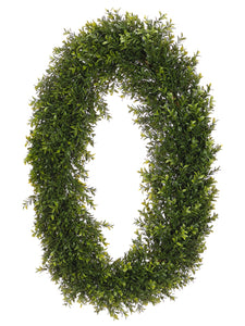 "30"" Oval Boxwood Wreath  Two Tone Green (pack of 2)"