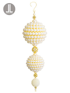 "10"" Pearl Ball Drop Ornament  Pearl (pack of 6)"
