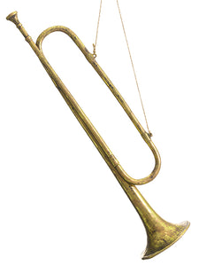 "21"" Trumpet Ornament  Antique Gold (pack of 8)"