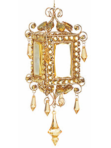 "10.5"" Rhinestone Lantern Ornament Gold (pack of 2)"