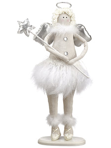 "21"" Angel  Silver White (pack of 6)"