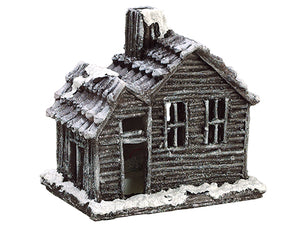 "6.5"" Snowed House w/Light (battery Operated) Brown Snow (pack of 1)"