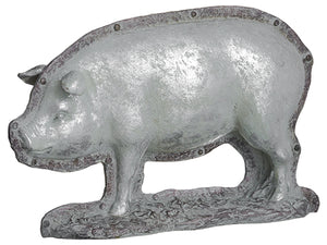 "9""Hx14.5""L Pig Chocolate Mold  Antique Silver (pack of 1)"