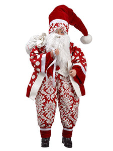 "25"" Merry Christmas Santa  Red White (pack of 2)"