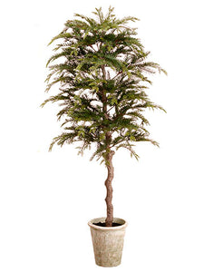 "60"" Pine Topiary Tree in Paper Mache Pot Green (pack of 1)"